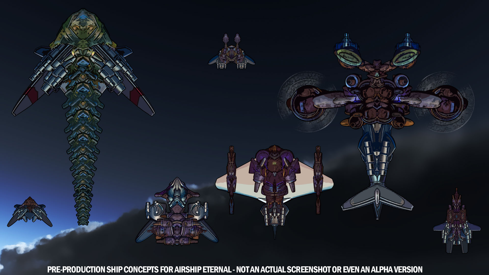 Airship Eternal – Concept Ships on bg from Skyward Collapse