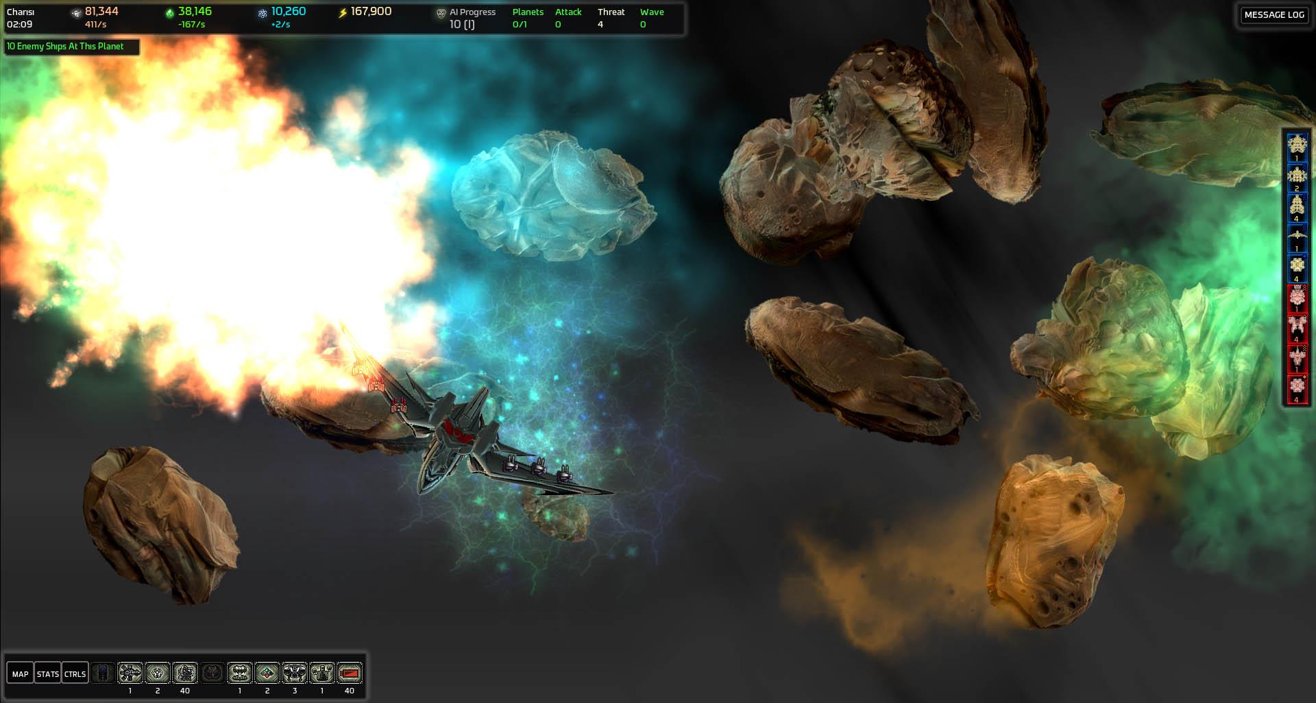 Explosion In Nebula