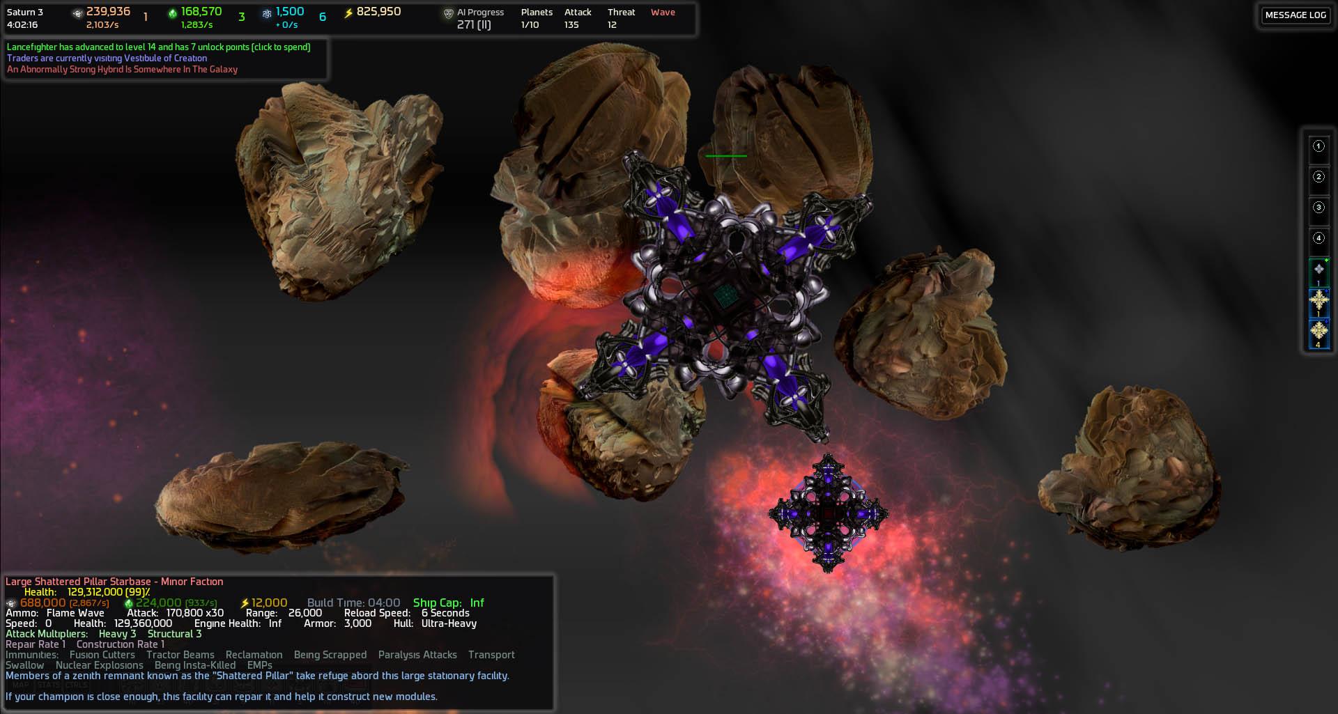Nebula Scenario Shattered Pillar