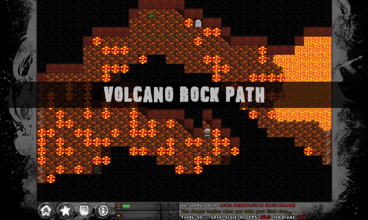 Volcano Rock Path