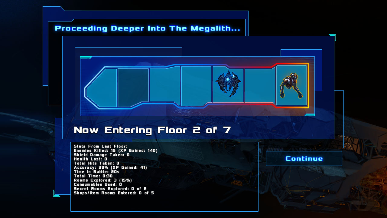 Megalith Map (between floors)